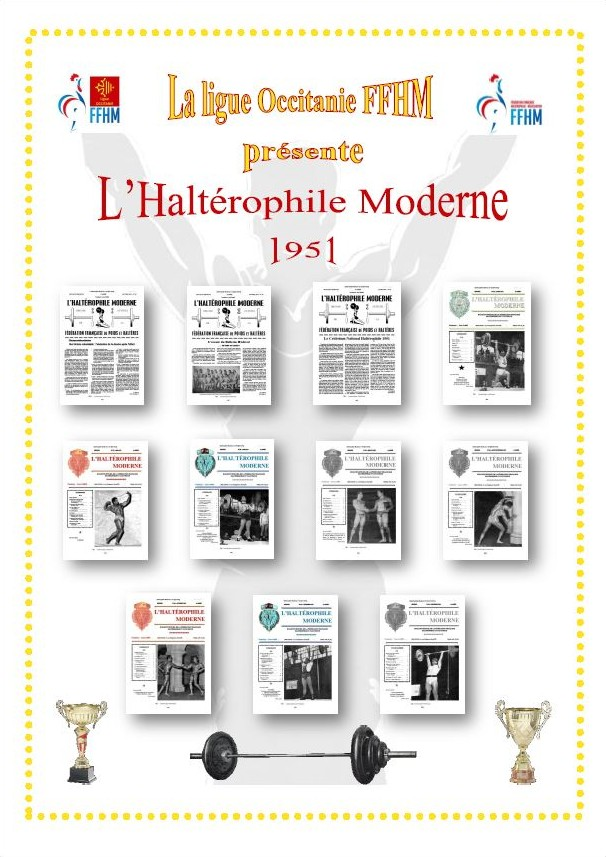 Première de couverture de la compilation Haltérophile Moderne année 1951