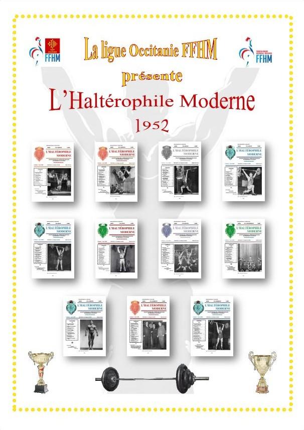 Première de couverture de la compilation Haltérophile Moderne année 1952