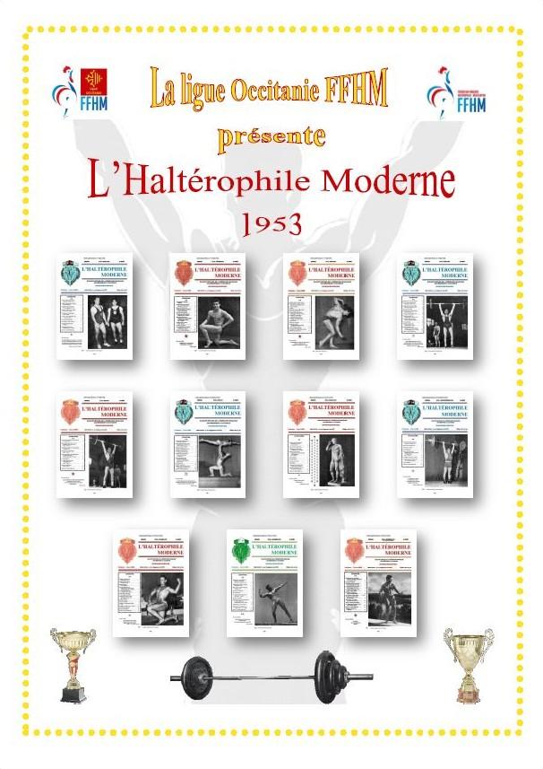 Première de couverture de la compilation Haltérophile Moderne année 1953