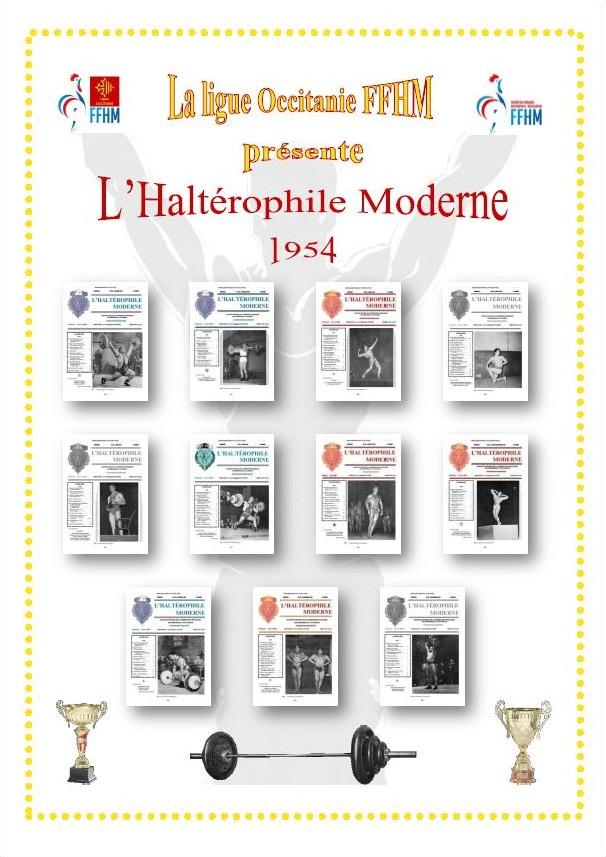 Première de couverture de la compilation Haltérophile Moderne année 1954