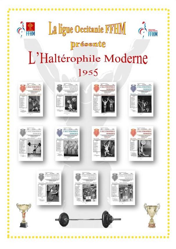 Première de couverture de la compilation Haltérophile Moderne année 1955