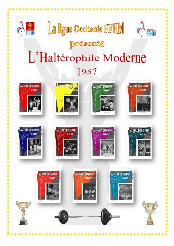 Première de couverture de la compilation Haltérophile Moderne année 1957