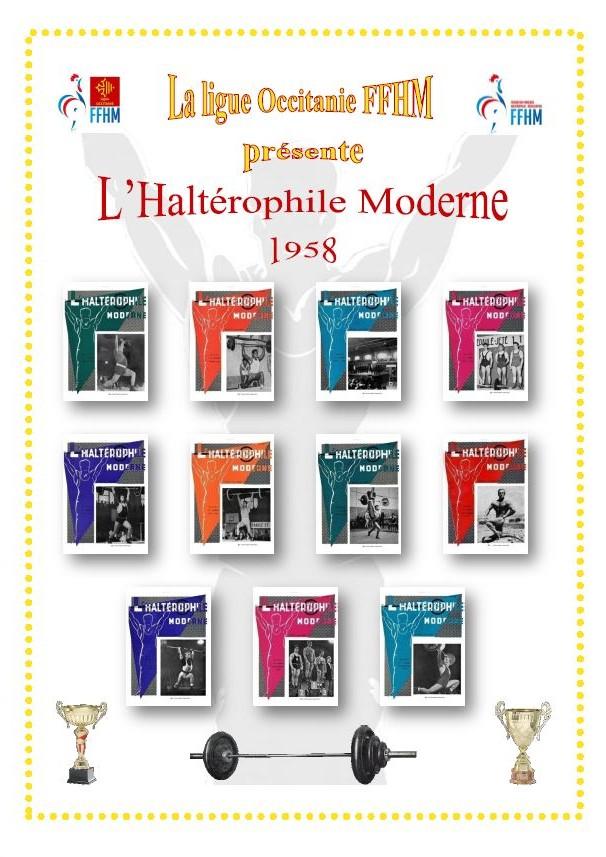 Première de couverture de la compilation Haltérophile Moderne année 1958