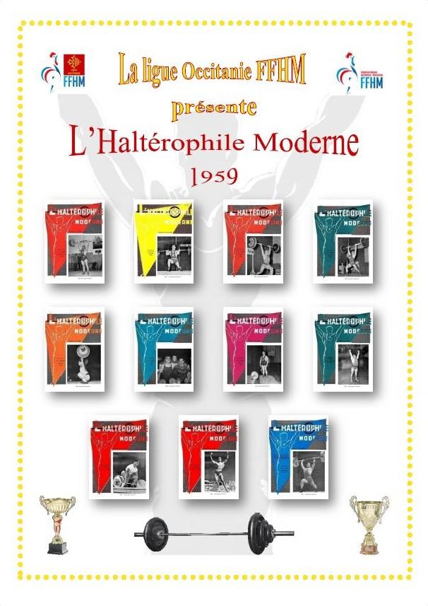 Première de couverture de la compilation Haltérophile Moderne année 1959