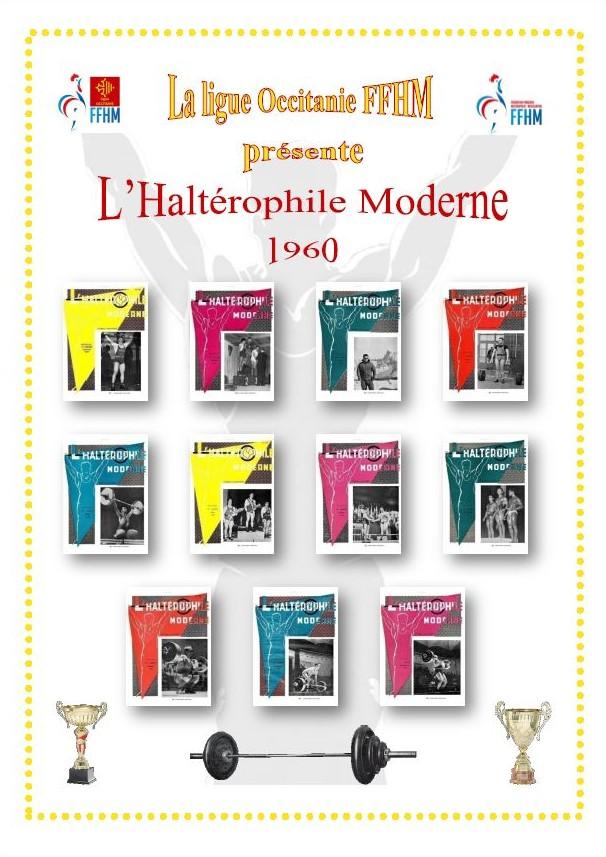 Première de couverture de la compilation Haltérophile Moderne année 1960