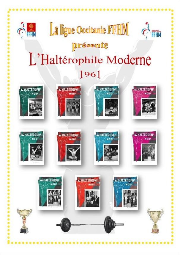 Première de couverture de la compilation Haltérophile Moderne année 1961