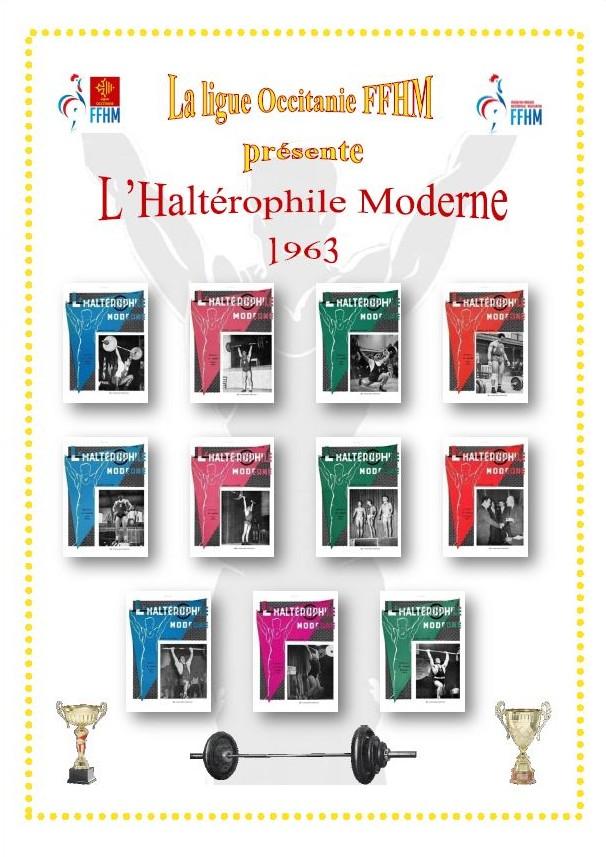 Première de couverture de la compilation Haltérophile Moderne année 1963