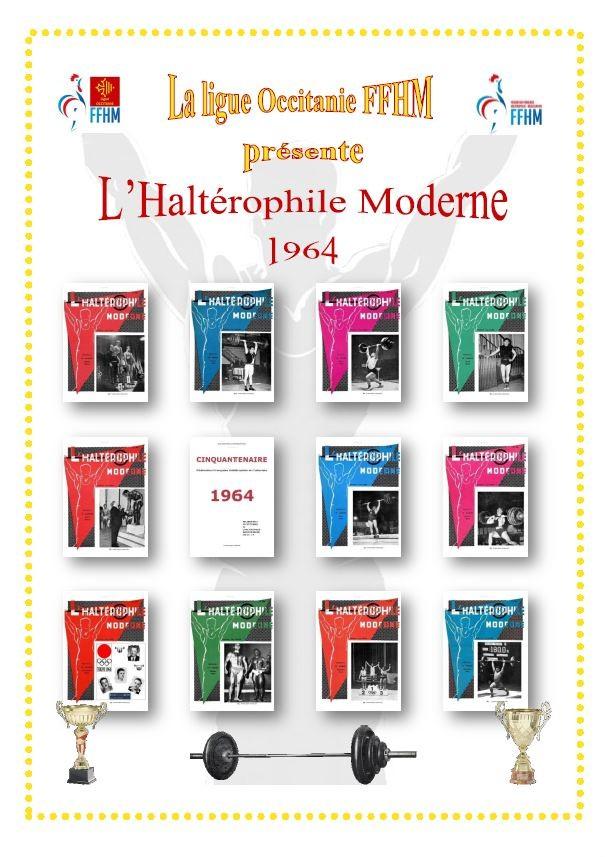 Première de couverture de la compilation Haltérophile Moderne année 1964