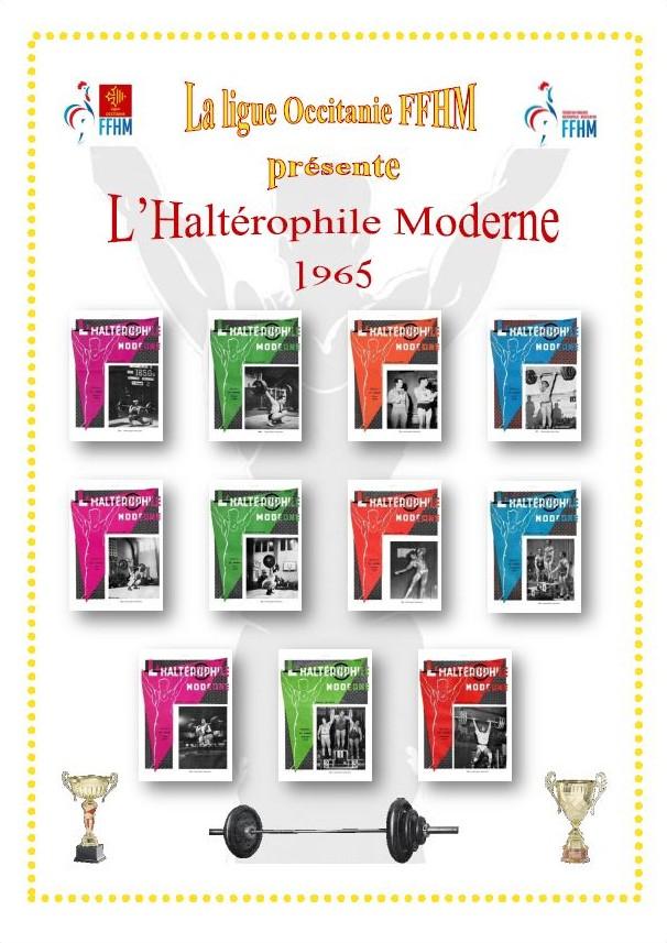 Première de couverture de la compilation Haltérophile Moderne année 1965