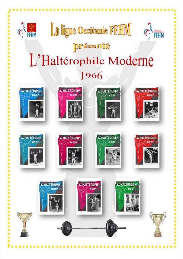 Première de couverture de la compilation Haltérophile Moderne année 1966