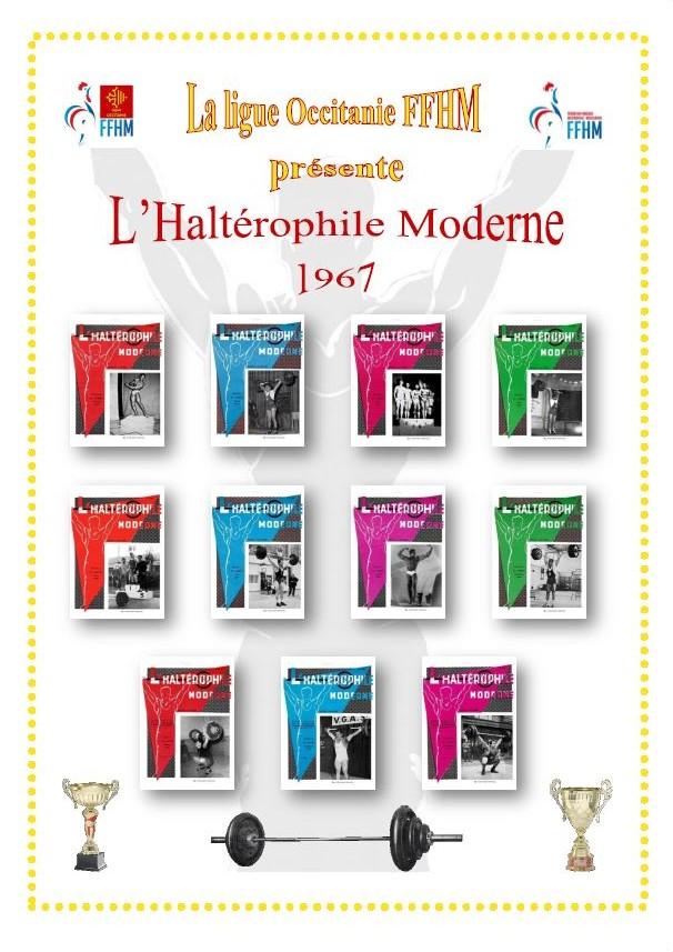 Première de couverture de la compilation Haltérophile Moderne année 1967