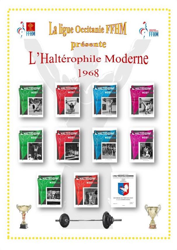 Première de couverture de la compilation Haltérophile Moderne année 1968