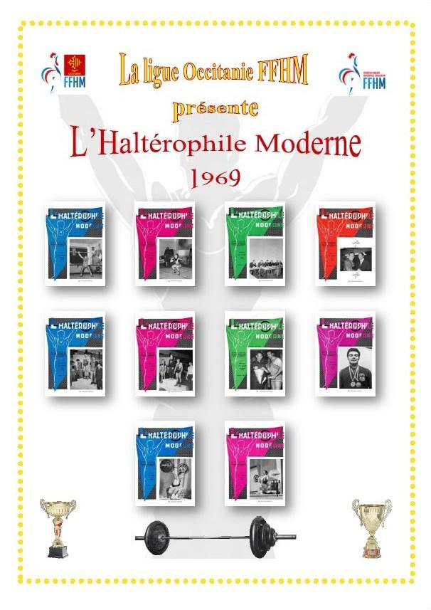 Première de couverture de la compilation Haltérophile Moderne année 1969
