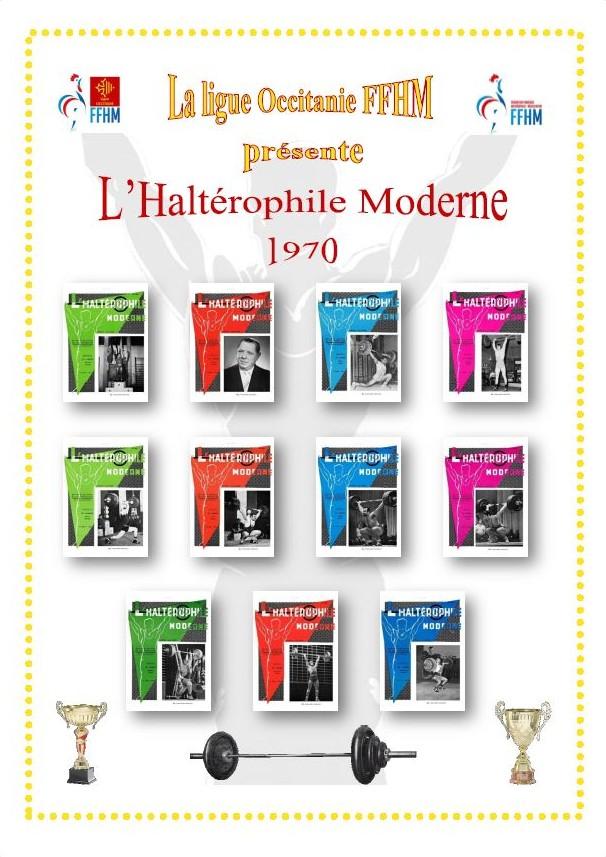 Première de couverture de la compilation Haltérophile Moderne année 1970
