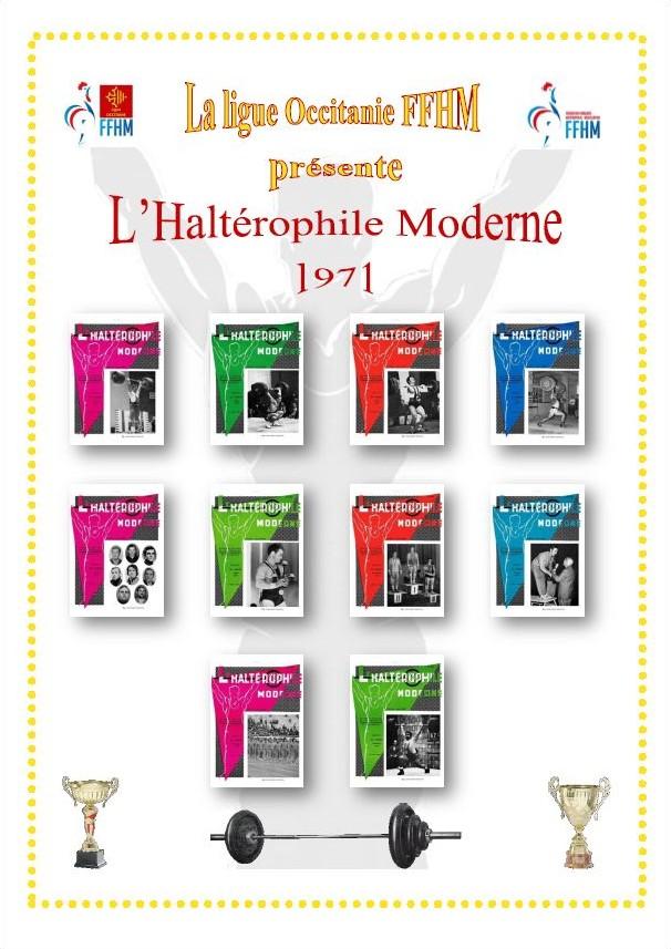 Première de couverture de la compilation Haltérophile Moderne année 1971