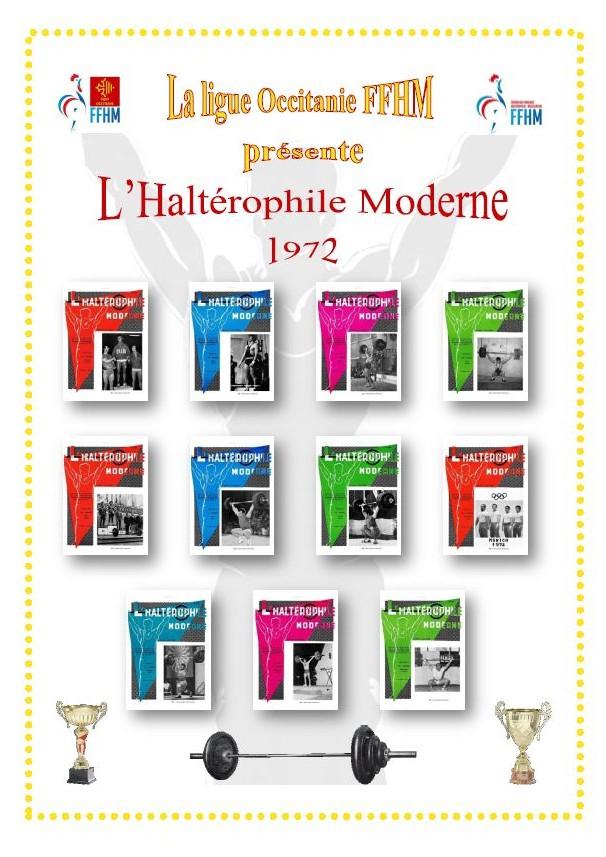 Première de couverture de la compilation Haltérophile Moderne année 1972