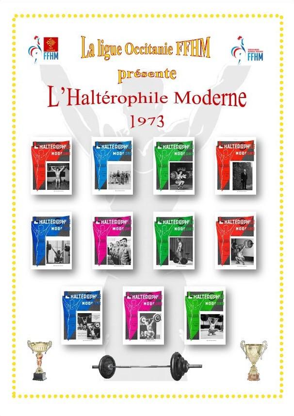 Première de couverture de la compilation Haltérophile Moderne année 1973