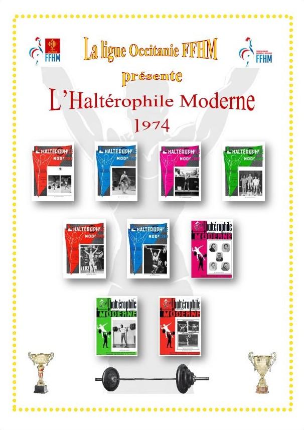 Première de couverture de la compilation Haltérophile Moderne année 1974