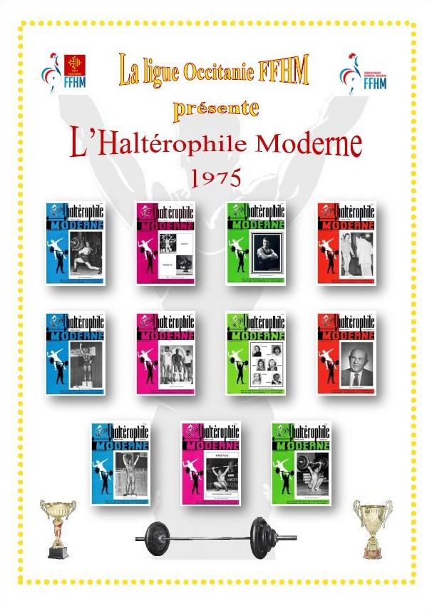 Première de couverture de la compilation Haltérophile Moderne année 1975