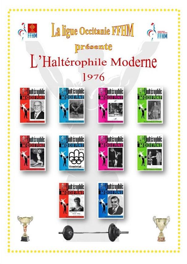Première de couverture de la compilation Haltérophile Moderne année 1976