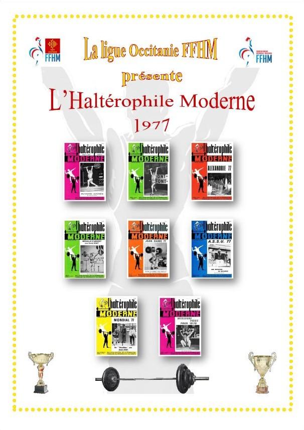 Première de couverture de la compilation Haltérophile Moderne année 1977
