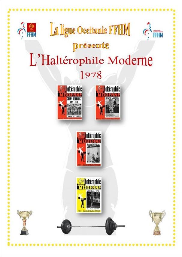Première de couverture de la compilation Haltérophile Moderne année 1978