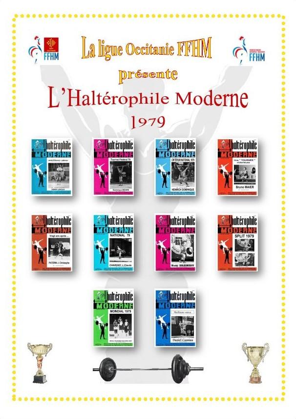 Première de couverture de la compilation Haltérophile Moderne année 1979