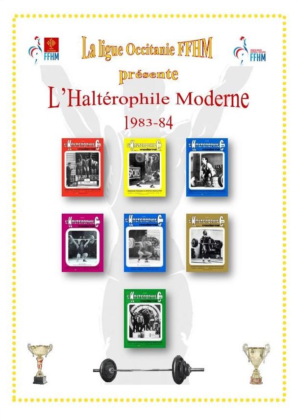 Première de couverture de la compilation Haltérophile Moderne année 1983-84