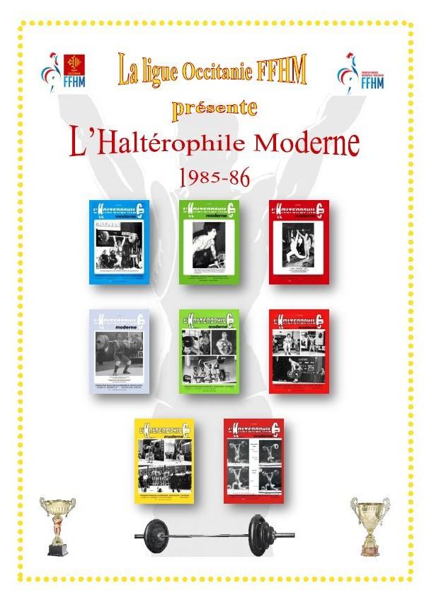 Première de couverture de la compilation Haltérophile Moderne année 1985-86