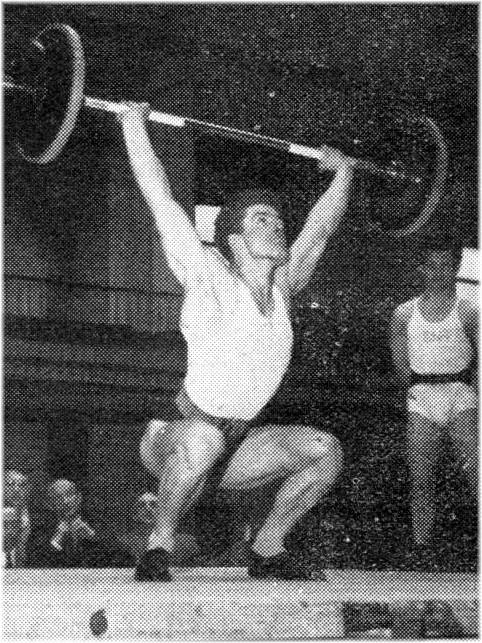 Georges Lambert Champion de France Universitaire d'haltérophilie en 1953