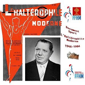 Jean Dame en couverture du n° 261 de l'Haltérophile Moderne