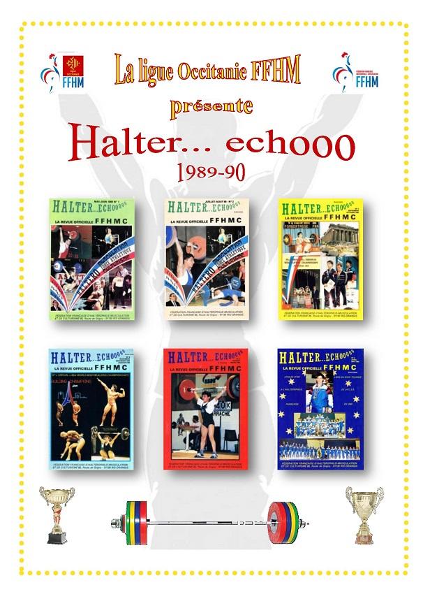 Page de présentation des revues Halter Echooo 1989-1990