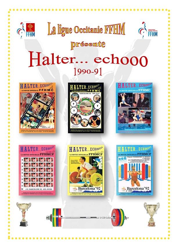 Page de présentation des revues Halter Echooo 1990-1991