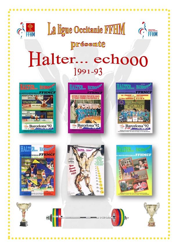 Page de présentation des revues Halter Echooo 1991-1993