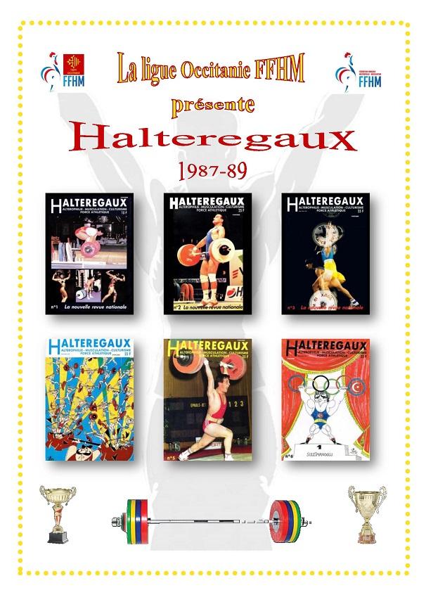 Page de présentation des revues Halteregaux 1987-1989